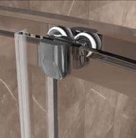 Jupiter 900x760mm Offset Quadrant Sliding Door Enclosure With 8mm Easy Clean Glass XL976Q
